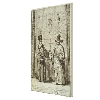Matteo Ricci (1552-1610) and Paulus Li, from 'Chin Canvas Print