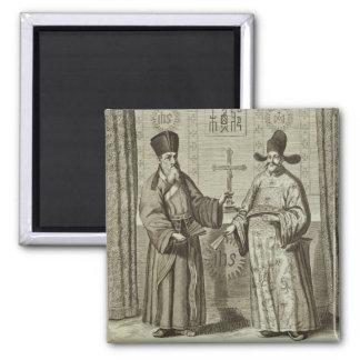 Matteo Ricci (1552-1610) and Paulus Li, from 'Chin Magnet