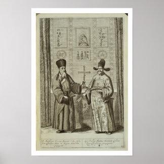 Matteo Ricci (1552-1610) and Paulus Li, from 'Chin Poster