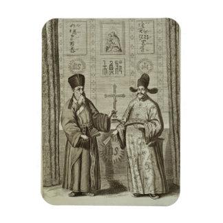 Matteo Ricci (1552-1610) and Paulus Li, from 'Chin Rectangular Photo Magnet