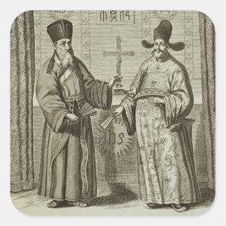 Matteo Ricci (1552-1610) and Paulus Li, from 'Chin Square Sticker