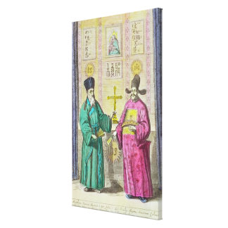 Matteo Ricci  and another Christian Canvas Print