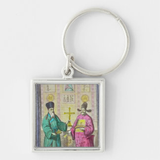 Matteo Ricci  and another Christian Silver-Colored Square Key Ring