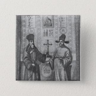 Matteo Ricci  and Paulus Li 15 Cm Square Badge