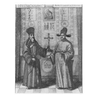Matteo Ricci  and Paulus Li Postcard