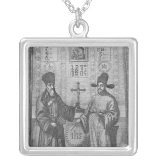 Matteo Ricci  and Paulus Li Silver Plated Necklace