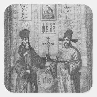 Matteo Ricci  and Paulus Li Square Sticker