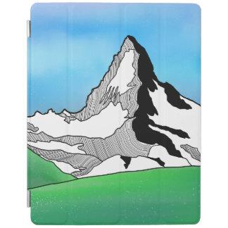 Matterhorn Switzerland Line art watercolor iPad Cover
