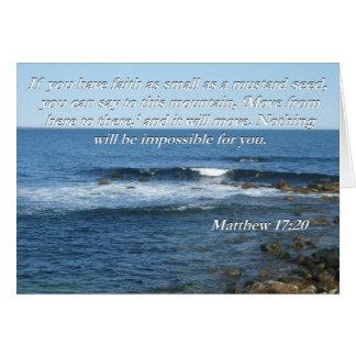 Matthew 17:20 Bible quote card