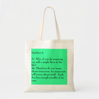 Matthew 627  Who of you by worrying can add a s... Tote Bag