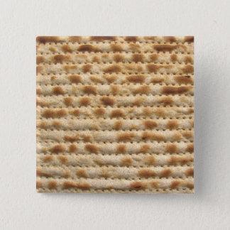 Matzah biscuit flatbread 15 cm square badge