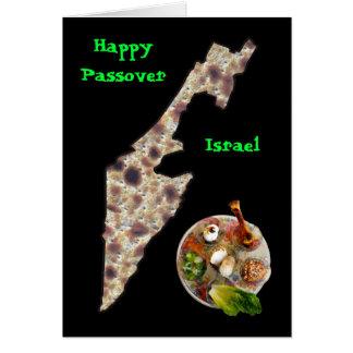 Matzah Israel & Seder Plate Card