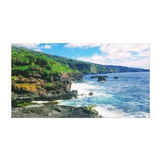Maui coastline canvas print