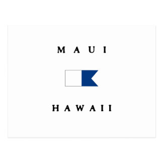 Maui Hawaii Alpha Dive Flag Postcard