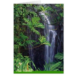 Maui Waterfall Card