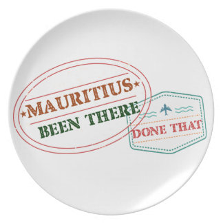 Mauritius Been There Done That Plate
