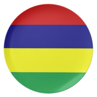 mauritius country flag plate