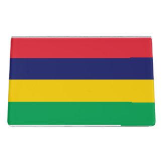 Mauritius Flag Desk Business Card Holder