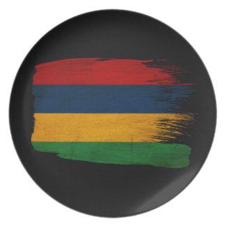 Mauritius Flag Plate