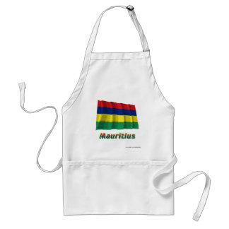Mauritius Waving Flag with Name Standard Apron