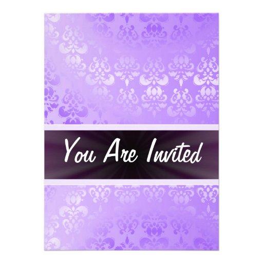 Mauve damask any occasion invitations