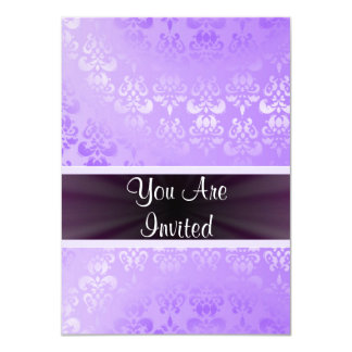 Mauve damask any occasion 4.5x6.25 paper invitation card