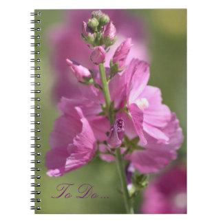 Mauve Floral Notebook