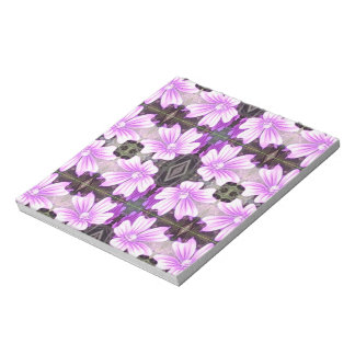Mauve Flower Photo Fractal Note Pad