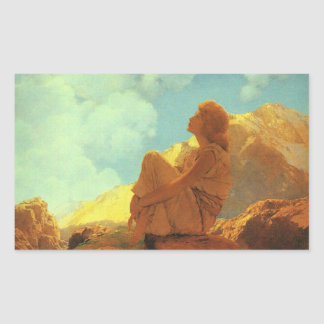 Maxfield Parrish Morning (Spring) Vintage Art Rectangular Sticker