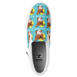 Max's Tongue Out Zipz Slip On Printed Shoes