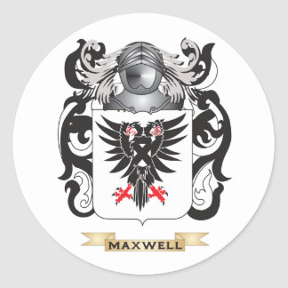 Maxwell Coat of Arms (Family Crest) Classic Round Sticker
