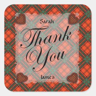 Maxwell Scottish clan tartan - Plaid Square Sticker