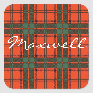 Maxwell Scottish clan tartan Square Sticker