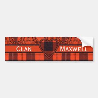 Maxwell Scottish Tartan Bumper Sticker
