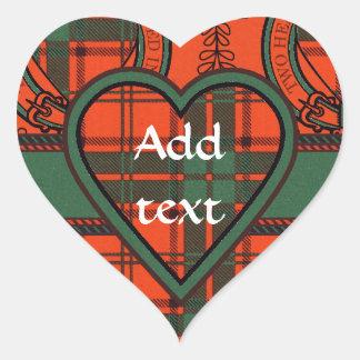 Maxwell Scottish Tartan Heart Sticker