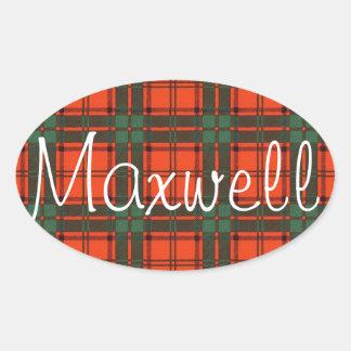 Maxwell Scottish Tartan Oval Sticker