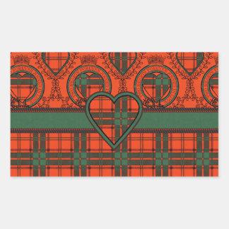 Maxwell Scottish Tartan Rectangular Sticker