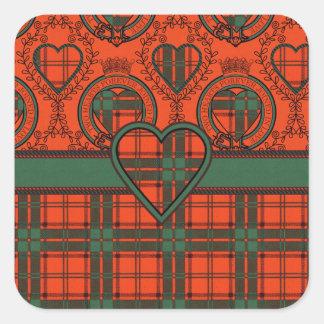 Maxwell Scottish Tartan Square Sticker