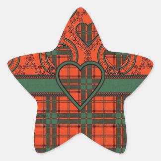Maxwell Scottish Tartan Star Sticker