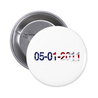 May 1, 2011 6 cm round badge
