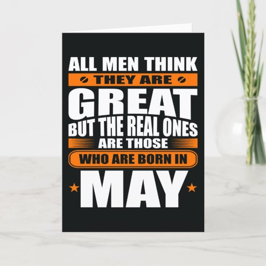 May Birthday (Add Your Text) Card