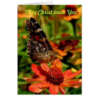 May Christ Touch You Greeting Card
