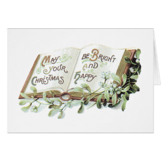 May Christmas be Bright and Happy Greeting Cards