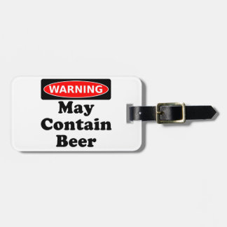 May Contain Beer Luggage Tag