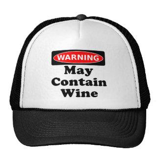 May Contain Wine Trucker Hats