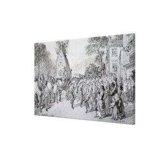 May Day at Bowdon, Cheshire Canvas Print