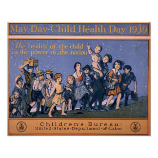 May Day-Child Health Day 1939 Poster