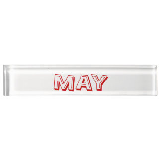 May Desk Nameplate by Janz