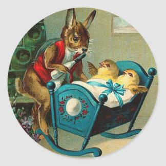 May Easter Joy Attend You Vintage Round Sticker