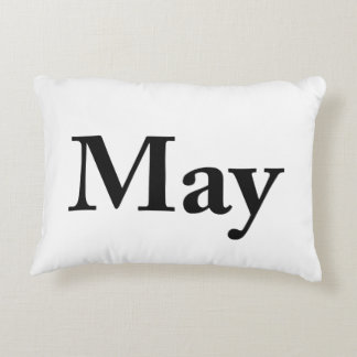 May for birthdays, anniversaries, celebrations decorative cushion